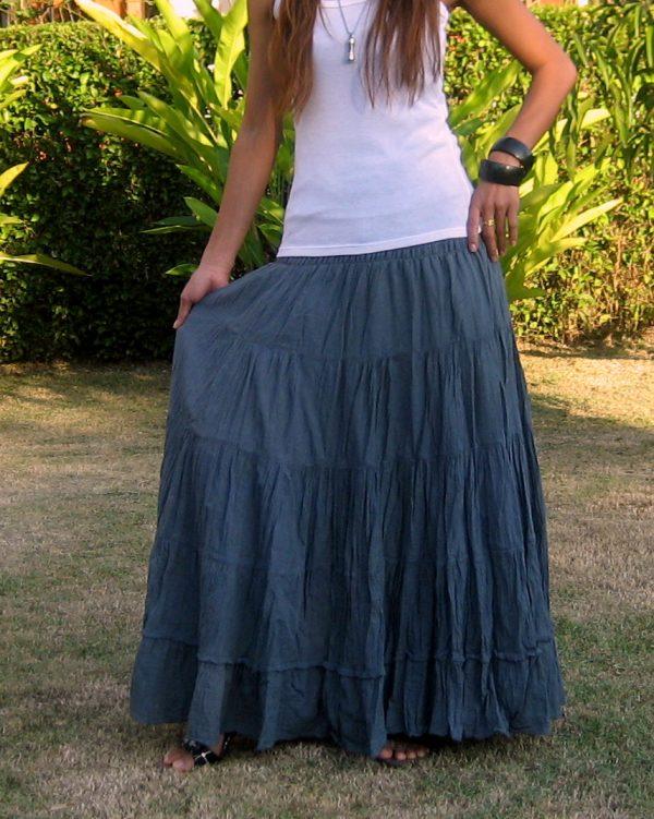 plus size maxi skirt