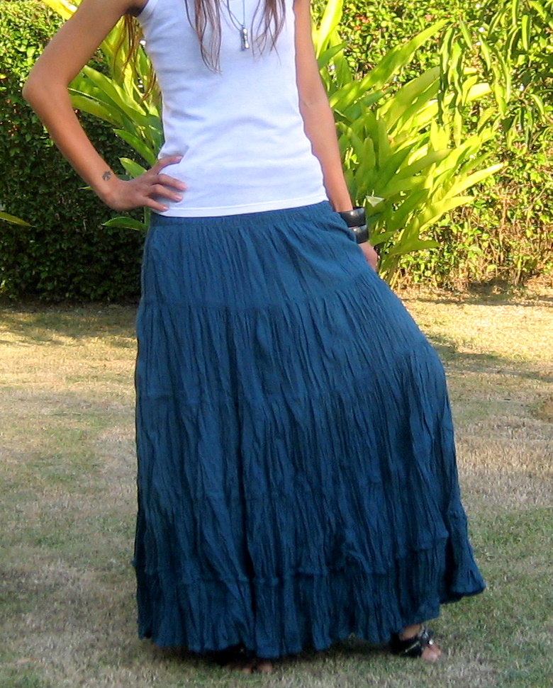 ac3c8cf52 Boho Maxi Skirt - Billys Thai Shop - Handmade Skirts for Women