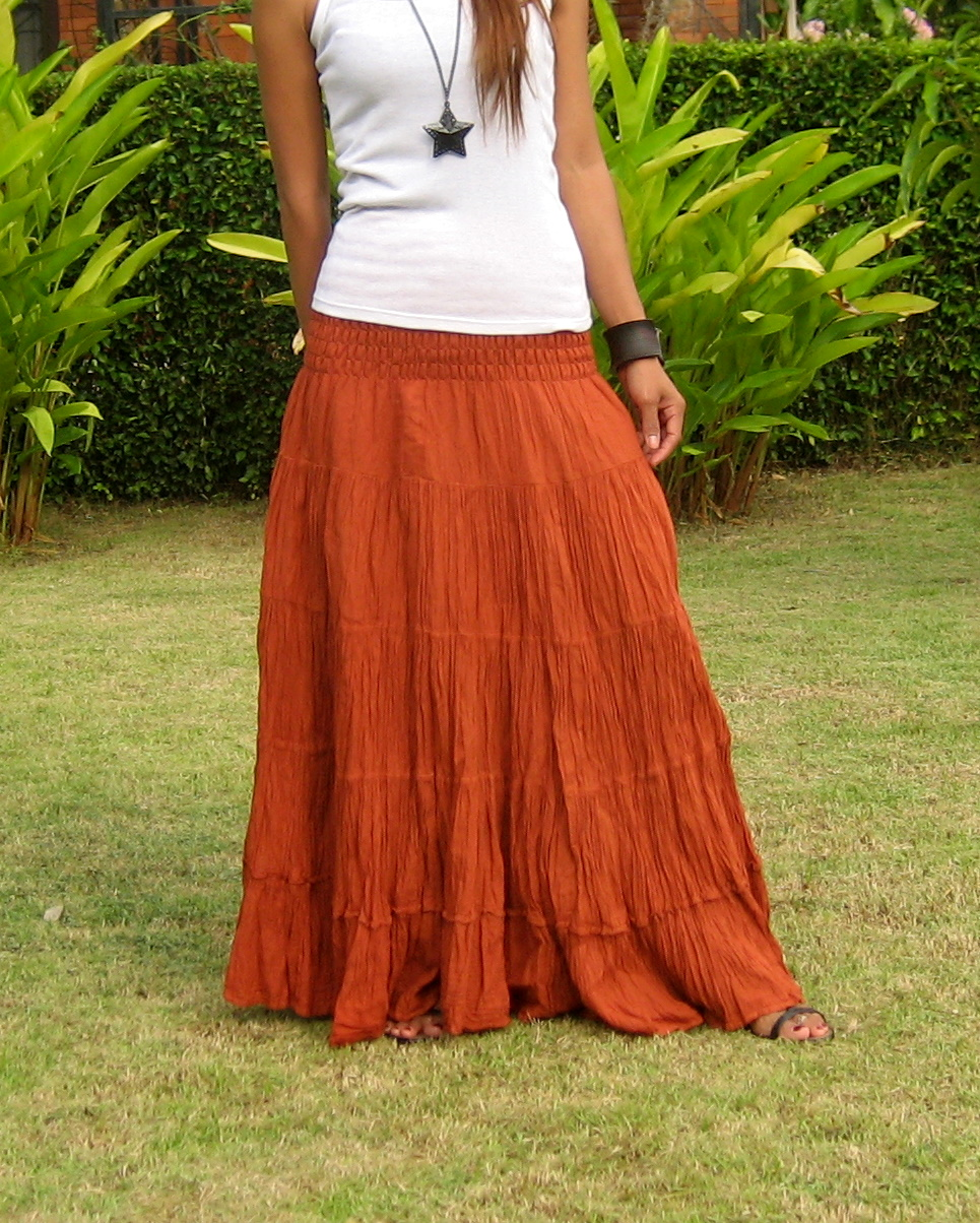 28b1c625d Plus Size Maxi Skirt - Billys Thai Shop - Extra Big Skirts for Women