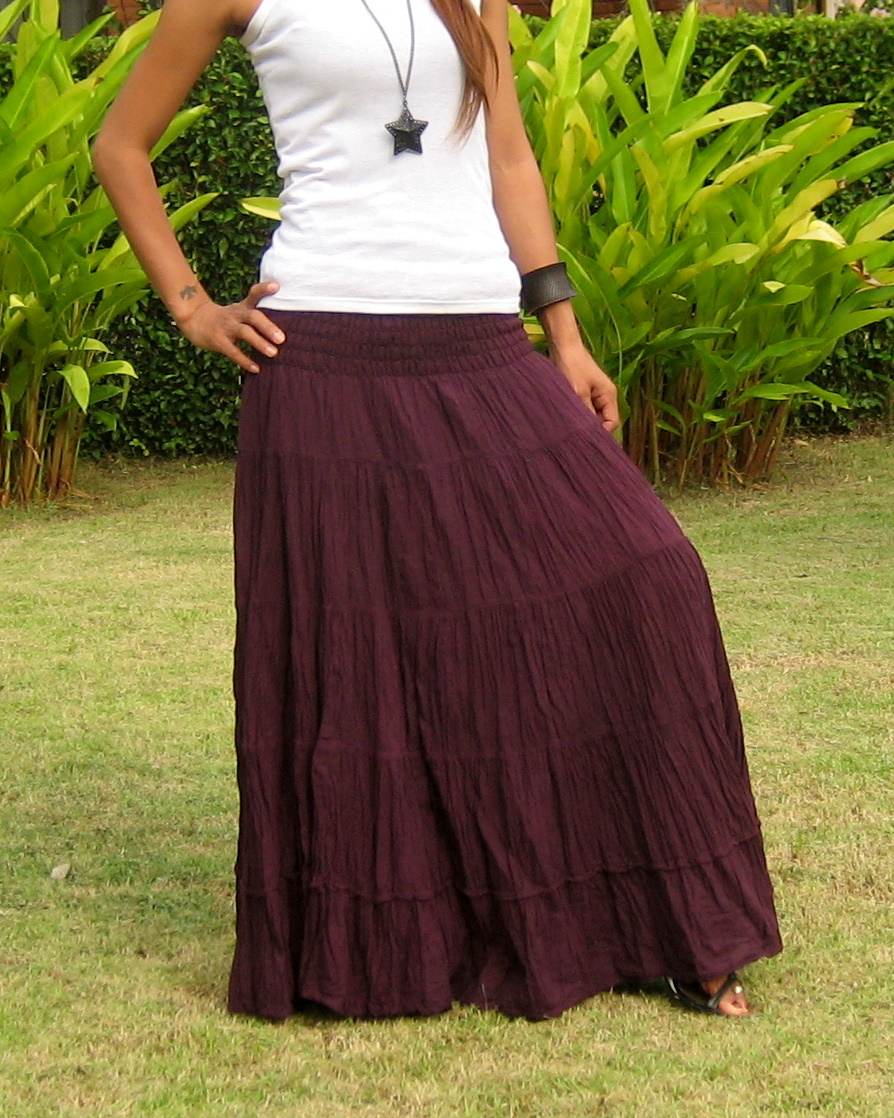 029d8990f995 Gypsy Skirts For Women - Billys Thai Shop - Handmade Maxi Skirt