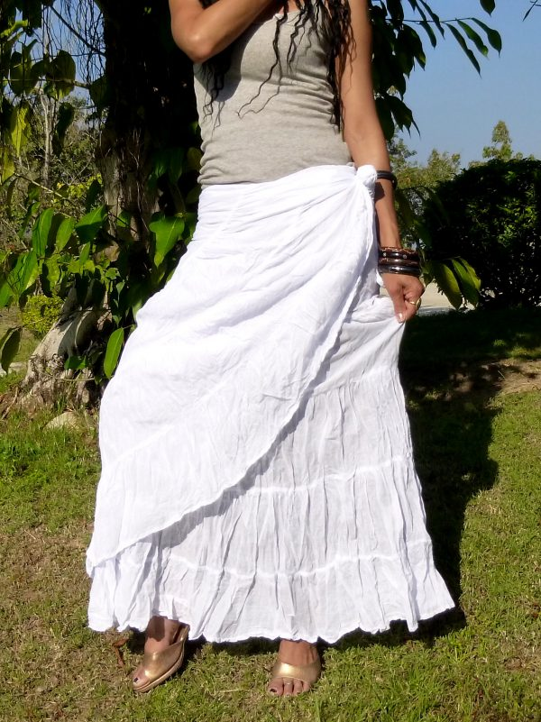 long wrap skirt