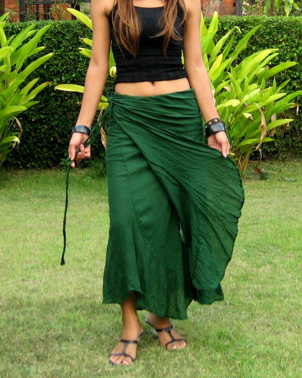 long wrap skirt