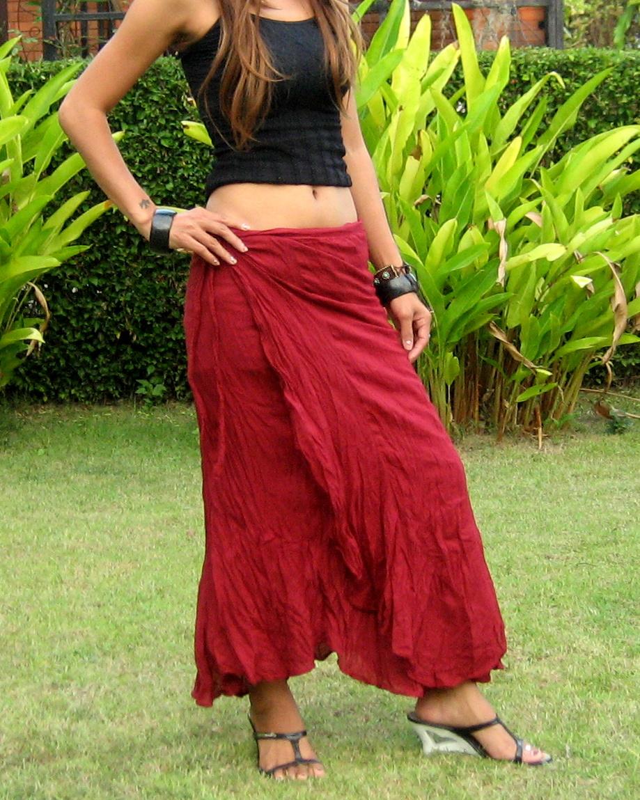 d1af7ebd277 Wrap Skirt - Billys Thai Shop - Handmade Skirts for Women