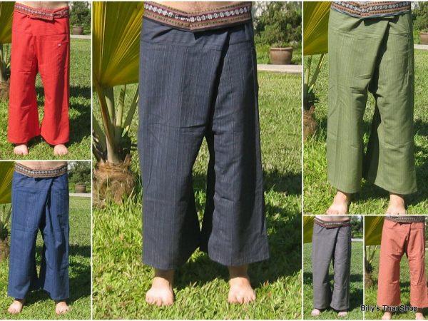 cotton fisherman pants