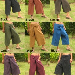 capri wrap pants