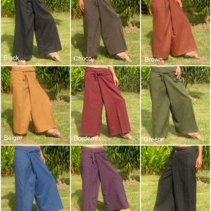 wrap fisherman pants